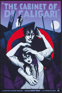 """The Cabinet of Dr. Caligari by Becky Cloonan (Mondo, 2015). Numbered Limited Edition Screen Print Poster (16"""" X 24&..."""