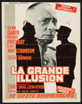 "Movie Posters:Foreign, La Grande Illusion (Filmsonor, R-1963). Trimmed Belgian (14.25"" X 18.5""). Foreign.. ..."