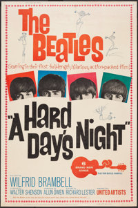 """A Hard Day's Night (United Artists, 1964). Poster (40"""" X 60""""). Rock and Roll"""