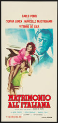 """Movie Posters:Foreign, Marriage Italian-Style (Interfilm, R-1965). Italian Locandina (12.75"""" X 27.75""""). Foreign.. ..."""
