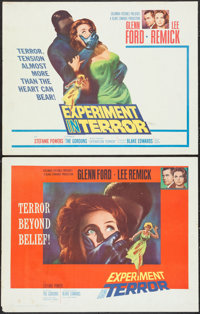 "Experiment in Terror (Columbia, 1962). Half Sheets (2) (22"" X 28"") Style A & B. Thriller. ... (Total:..."