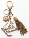 """Luxury Accessories:Accessories, Louis Vuitton Clear & Amber Crystal Keychain . Very GoodCondition. 5.5"""" Length. ..."""