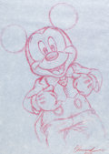 Animation Art:Production Drawing, 45 Years of Magic Character of the Month Mickey Mouse Sketch(Walt Disney, 2000).... (Total: 2 Items)