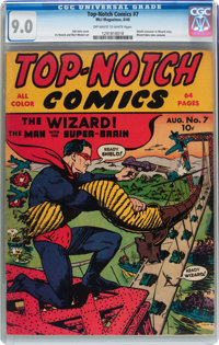 Top-Notch Comics #7 (MLJ, 1940) CGC VF/NM 9.0 Off-white to white pages
