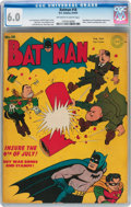 Golden Age (1938-1955):Superhero, Batman #18 (DC, 1943) CGC FN 6.0 Off-white to white pages....