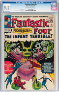 Silver Age (1956-1969):Superhero, Fantastic Four #24 (Marvel, 1964) CGC NM- 9.2 Off-white to white pages....