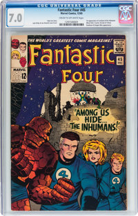 Fantastic Four #45 (Marvel, 1965) CGC FN/VF 7.0 Cream to off-white pages
