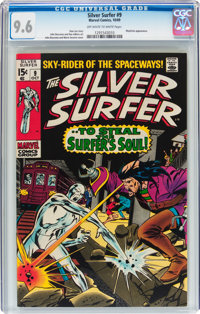 The Silver Surfer #9 (Marvel, 1969) CGC NM+ 9.6 Off-white to white pages