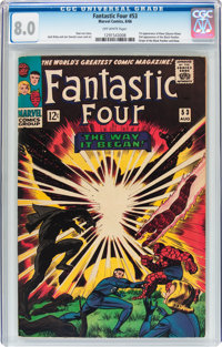 Fantastic Four #53 (Marvel, 1966) CGC VF 8.0 Off-white pages