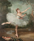 Fine Art - Painting, European, P. J. Robert (French, 19th Century). Ballerina, 1880. Oil on Canvas. 69-1/2 x 57 inches (176.5 x 144.8 cm). Signed and d...