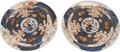 Asian:Japanese, A Pair of Japanese Imari Porcelain Circular Platters with Strainers. 17-3/4 inches diameter (45.1 cm). ... (Total: 4 Items)