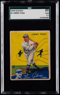 Baseball Cards:Singles (1930-1939), 1934 Goudey Jimmy Foxx #1 SGC 20 Fair 1.5....