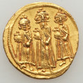 Ancients:Byzantine, Ancients: Heraclius (AD 610-641), with Heraclius Constantine andHeraclonas. AV solidus (4.45 gm). ...