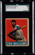 Baseball Cards:Singles (1940-1949), 1948 Leaf Ted Williams #76 SGC 40 VG 3....
