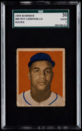 Baseball Cards:Singles (1940-1949), 1949 Bowman Roy Campanella #84 SGC 30 Good 2....