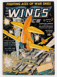 Wings Comics #24 (Fiction House, 1942) Condition: FN