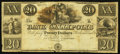 Obsoletes By State:Ohio, Gallipolis, OH- Bank of Gallipolis $20 Remainder Wolka 1171-13. ...