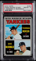 Baseball Cards:Singles (1970-Now), 1970 Topps Yankees Rookies Thurman Munson #189 PSA NM-MT 8....