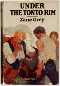 Books:Literature 1900-up, [Featured Lot]. Zane Grey. INSCRIBED. Under the Tonto Rim.New York: Harper & Brothers, 1926. ...