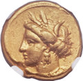 Ancients:Greek, Ancients: ZEUGITANIA. Carthage. Ca. 350-320 BC. AV Stater (18mm,9.18 gm, 5h)....
