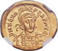 Ancients:Roman Imperial, Ancients: OSTROGOTHIC KINGDOM. Theodoric I the Great (AD 493-526).AV solidus (21mm, 4.46 gm, 6h)....
