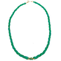 Emerald, Gold Necklace
