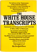 Books:Americana & American History, [Richard Nixon]. Gerald Gold, editor. The White HouseTranscripts. New York: The Viking Press, [1974]. ...