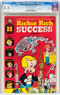 Richie Rich Success Stories #8 File Copy (Harvey, 1966) CGC VF+ 8.5 Off-white to white pages