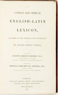 Books:Reference & Bibliography, Joseph Esmond Riddle and Thomas Kerchever Arnold. Copious and Critical English-Latin Lexicon, Founded on the German-Lati...