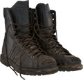 "Movie/TV Memorabilia:Costumes, A Pair of Combat Boots from ""Rambo"" (aka ""Rambo 4"")...."