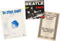 Music Memorabilia:Memorabilia, A Group of Beatles-Inspired Song Items (UK and Germany, 1964)....