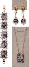 Music Memorabilia:Memorabilia, A Beatles Costume Jewelry Group, (UK, circa 1964)....