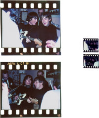 Beatles -Two Rare Original Photographic Negatives Of John Lennon and Paul McCartney Performing Publicly in Austria (1965...