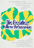 Music Memorabilia:Posters, The Beatles Yellow Submarine German Theatrical Poster(United Artists/King Features, 1968)....