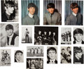 Music Memorabilia:Photos, A Group of Sixteen Beatles Vintage and Press Photographs (UK,1962-63)....
