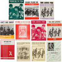 Beatles Vintage Sheet Music Collection (Eleven Pieces) (UK, US, & Germany, 1960s)