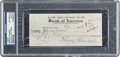 Movie/TV Memorabilia:Autographs and Signed Items, The Three Stooges: Shemp Howard Signed Check....