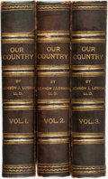 Books:Americana & American History, Benson J. Lossing. Our Country. A Household History for AllReaders, from the Discovery of America to the Present Time....(Total: 3 Items)