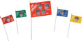 Music Memorabilia:Memorabilia, Beatles Set of Five German Souvenir Cloth Flags (1966). ...