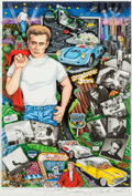 Movie/TV Memorabilia:Original Art, A James Dean-Related Limited Edition Artwork, 1995....