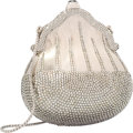 "Luxury Accessories:Bags, Judith Leiber Half Bead Silver Crystal Chatelaine MinaudiereEvening Bag. Very Good to Excellent Condition. 4.75""Widt..."