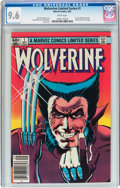 Modern Age (1980-Present):Superhero, Wolverine Limited Series #1 (Marvel, 1982) CGC NM+ 9.6 White pages....