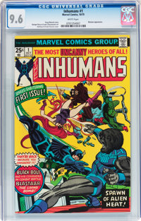 The Inhumans #1 (Marvel, 1975) CGC NM+ 9.6 White pages