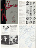 Music Memorabilia:Autographs and Signed Items, Buddy Holly Signed Westerner '55 Yearbook. ...