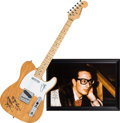 Music Memorabilia:Autographs and Signed Items, Buddy Holly and the Crickets Related Signed Guitar and Photograph Group.... (Total: 2 Items)