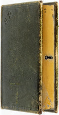 Books:Furniture & Accessories, [Book Safe]. Nineteenth-Century Metal Book Safe with Leather BoundCover. ...