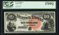 Large Size:Legal Tender Notes, Fr. 107 $10 1880 Legal Tender PCGS Superb Gem New 67PPQ.. ...