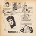 Music Memorabilia:Recordings, Elvis Presley Rare Promotional Record Sleeve and 45 Single (RCA,1955-56). ...