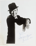 Movie/TV Memorabilia:Autographs and Signed Items, Frank Sinatra Signed Black and White Photograph (c. 1960)....