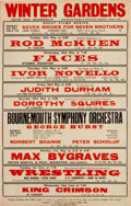 Music Memorabilia:Posters, Rod McKuen Personally Owned Concert Poster (1970s)....
